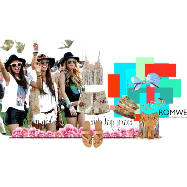Crochet Strappy top @ Romwe by lizellejoseph on Polyvore featuring En Shalla, Wallis, ALDO and romwe