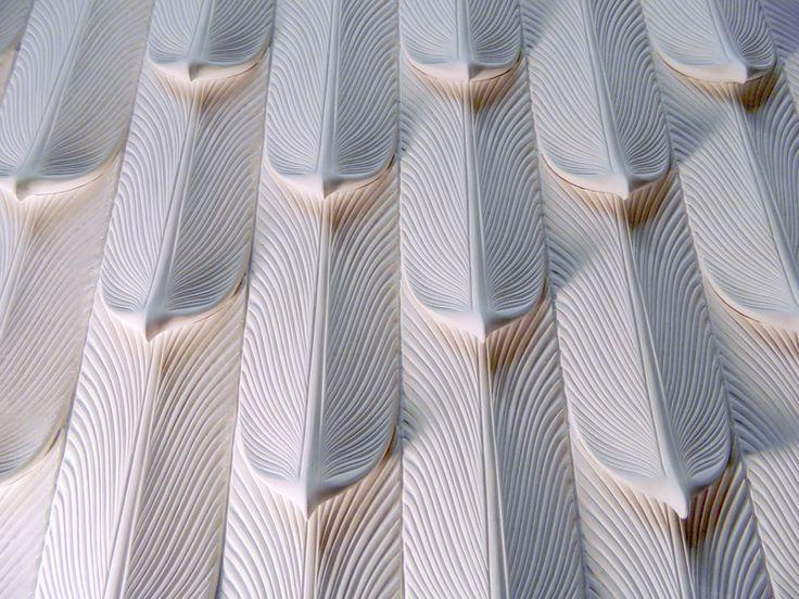 Hunt Studios Feather Tile In Plaster Cpmv Pinterest