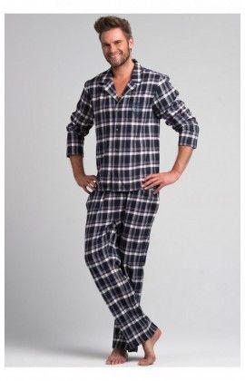 Pyjama Homme Model SAM-PY 043 Bleu / Blanc Rossli 69198