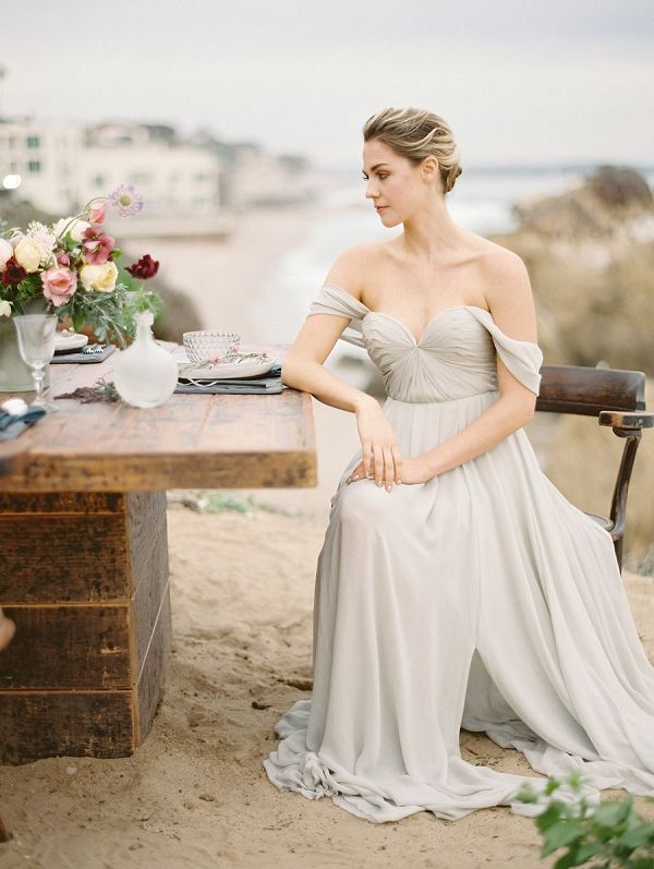 Sarah Seven 'Quincy' wedding gown from The Dress Theory   Rich Hued Coastal Wedding Romance   Charla Storey Photography