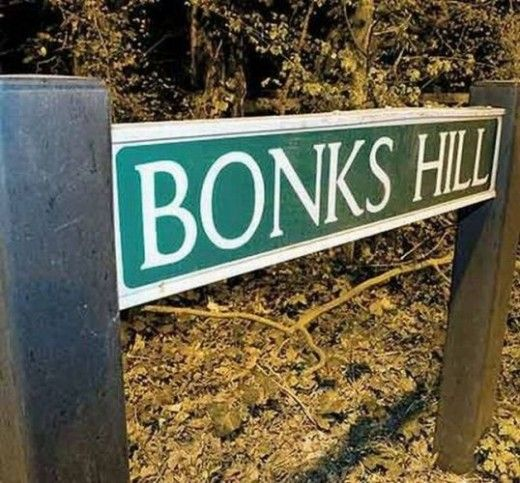 Funny and Rude Place Names in the UK - silly street and road names