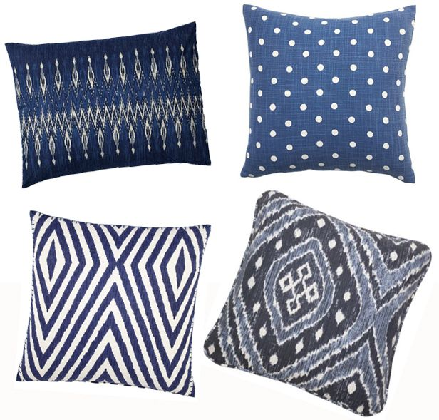 Add an Indigo-Hued Pillow This Spring (http://blog.hgtv.com/design/2014/05/02/hgtv-may-2014-color-of-the-month-indigo/?soc=Pinterest)Pottery Barn