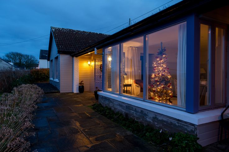 Outside view of the Cliff Cottage, overlooking Ardmore Bay and steps away from the Cliff House Hotel.