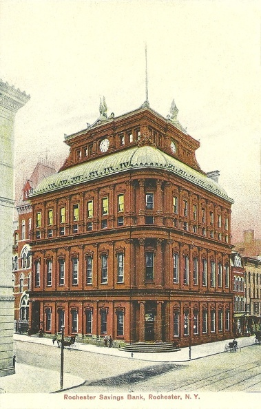 Rochester Savings Bank, Rochester, N.Y.   Dated between 1907 and 1915  Published by: The Rochester News Company, Rochester, N.Y.  Printed in Germany  Number: C 4530