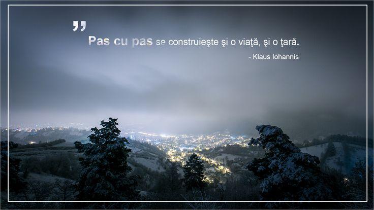 """Citat din volumul autobiografic """"Pas cu Pas"""" de Klaus Iohannis"""
