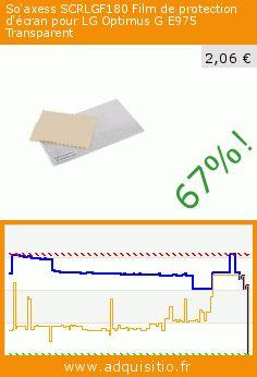 So'axess SCRLGF180 Film de protection d'écran pour LG Optimus G E975 Transparent (Accessoire). Réduction de 67%! Prix actuel 2,06 €, l'ancien prix était de 6,25 €. https://www.adquisitio.fr/so-axess/scrlgf180-film-protection