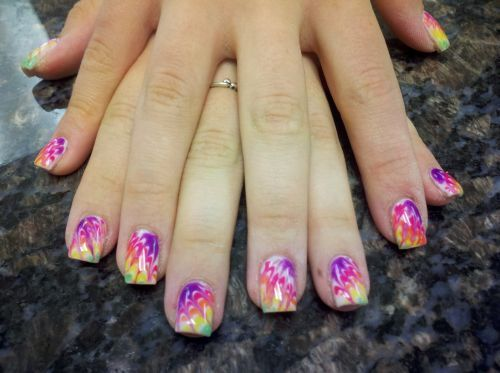 91 best water marbling images on pinterest nail scissors marble day 128 marbleized tie dye nail art prinsesfo Image collections