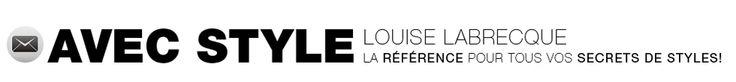 Louise Labrecque, styliste et chroniqueuse mode et beauté - palette couleurs