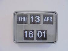 ORIGINAL GRAYSON QUARTZ BANK / INDUSTRIAL  FLIP  CARD CLOCK 2008
