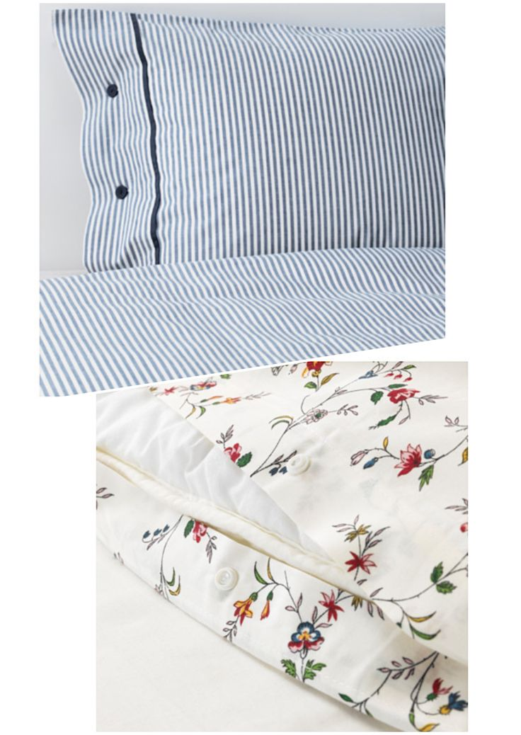 duvet covers from ikea using both these patterns on same bed ljusoga floral