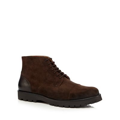 Hammond & Co. by Patrick Grant Brown grained leather lace-up boots | Debenhams