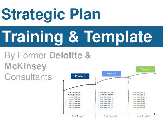Strategic Plan  Training & Template  By Former Deloitte &  McKinsey  Consultants