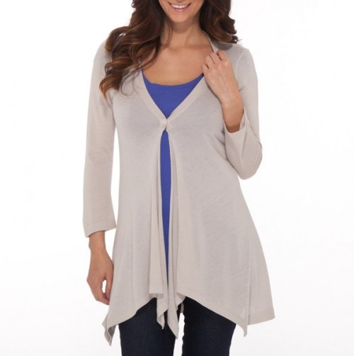 Lightweight One Button Cardigan - Casually Cool Styles for Mom - Events