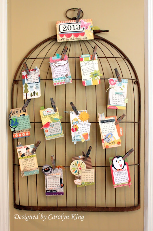 You must visit this site to see this wonderful calendar idea.  The month tags are really neat.  See at http://myblogbycammie.blogspot.com/2012/09/tag-wall-calendar.html