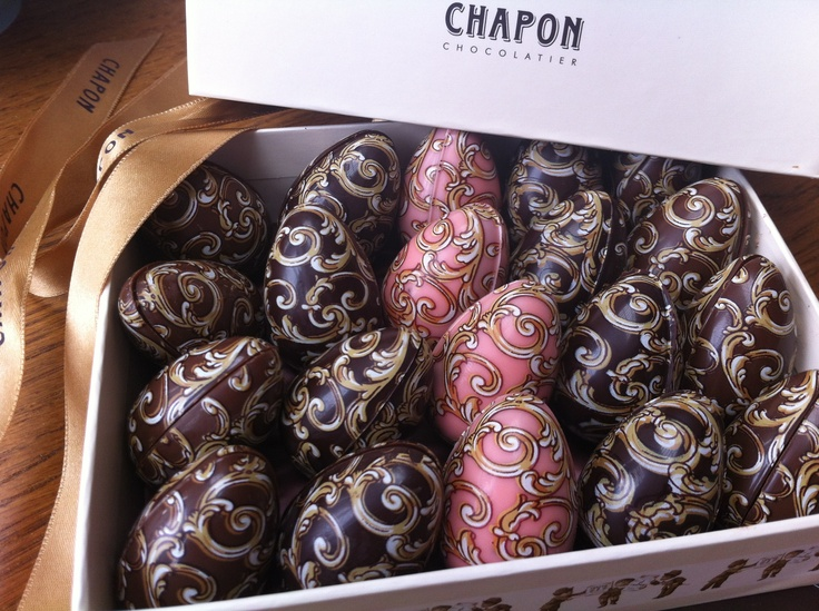 Chapon chocolate eggs from Paris. Happy Easter!