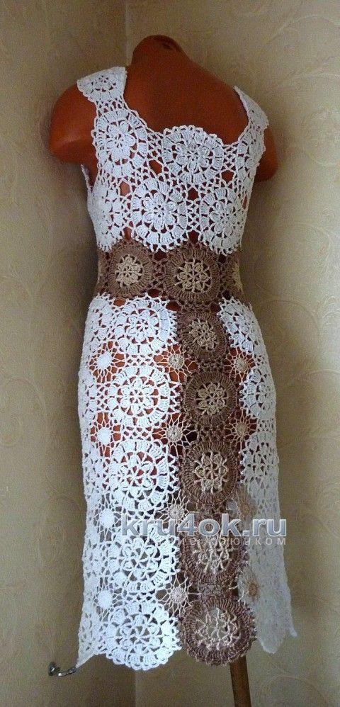 80f0ee999b7 Авторское платье Милена. Работа Олеси Петровой вязание и схемы вязания