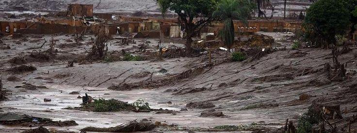  La gigantesque coulée de boues toxiques a parcouru plus de 650 kms dans le sud-est du Brésil. © Ricardo Moraes/ Reuters