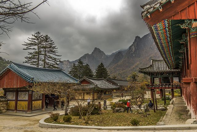 The view of the Sorak mountains in Korea....I miss going there to get refills on water for the house.
