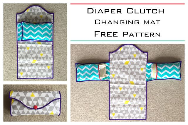 Diaper clutch and changing mat all in one!