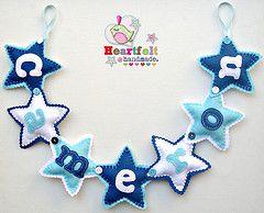 Star Name Cameron (heartfelthandmade) Tags: boy sign star handmade name banner felt garland feltro heartfelt bunting