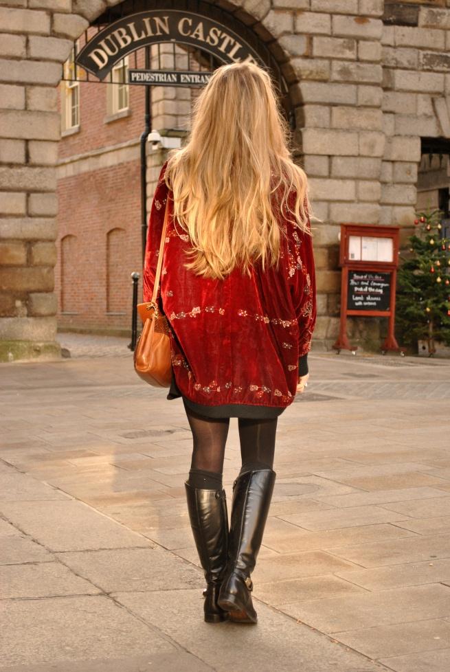 Whisty Dublin Castle Blogger Street Style Velvet Kimono