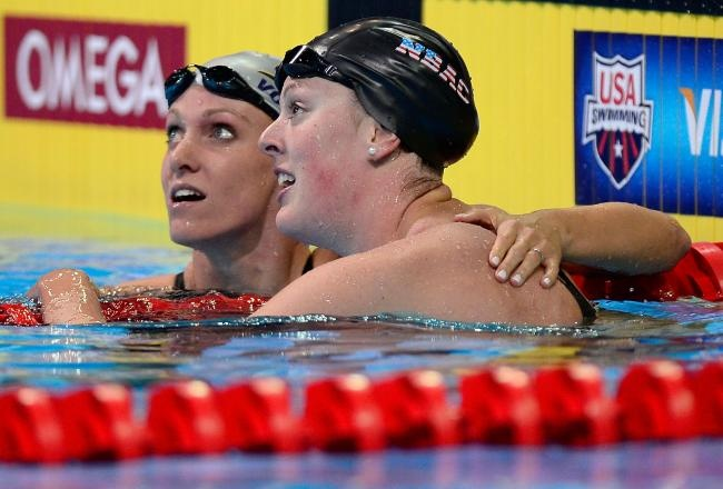 Allison Schmitt, Dana Vollmer Show USA Swimming Is Much More Than Missy Franklin:    Allison Schmitt and Dana Vollmer want fans to recognize there is more to the U.S. swim team than Missy Franklin. If there is a better way to do so than winning gold medals in record times, they likely aren't interested.    Vollmer made her mark in the 100-meter butterfly, doing something many didn't think was currently possible. She went under 56 seconds, breaking the world record that was set in...