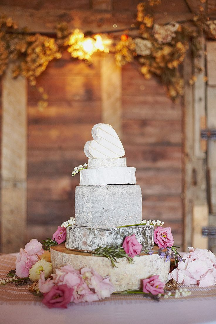 Pretty cheese wedding cake from Jeremy & Cora's wedding on @Love Scarlett today. Photography by @Sarah Gawler