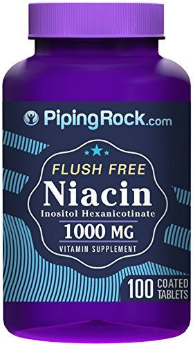 "Looking for a niacin supplement? Our premium-quality niacin is bound to inositol, which enables complete absorption without the unpleasant ""niacin flush"" that may be experienced with inferior formulations. In each serving of our easy-to-take coated caplets you'll get 1000 mg of... more details at http://supplements.occupationalhealthandsafetyprofessionals.com/vitamins/vitamin-b/b3-niacin/product-review-for-piping-rock-flush-free-niacin-inositol-hexanicotinate-1"
