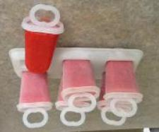 Strawberry ice pops (dairy and egg free)