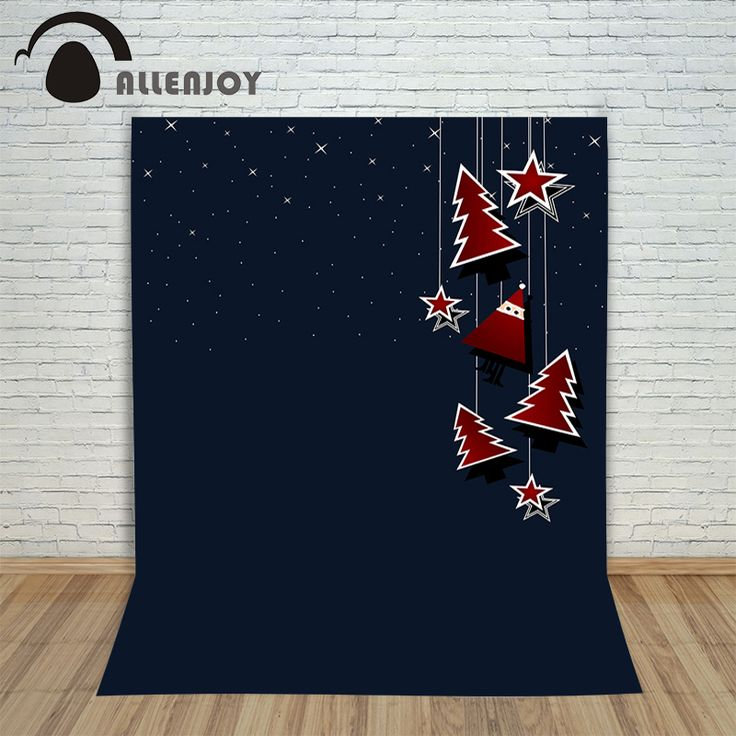 Christmas winter backdrops Black star tree cute new born photo studio backdrop background pictures