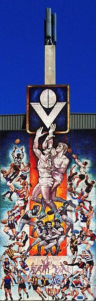 Mural from old VFL Park, Waverley, Victoria