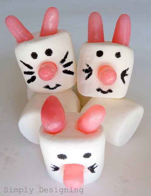 What cute and easy bunnies!