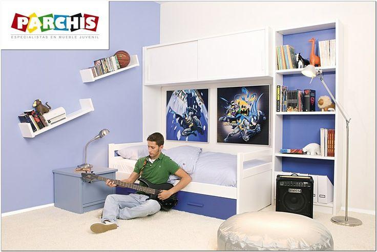 96 best dormitorios juveniles e infantiles compactos for Habitacion puente juvenil
