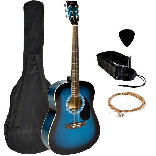 "Acoustic Guitar Kit Dreadnought 41"" Full Size Adult Guitar Pick Case & Strings  #Unbranded"