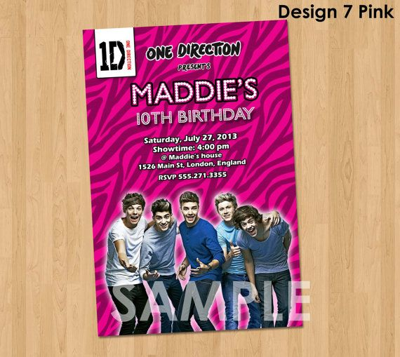 59 best party harty images on pinterest | one direction party, Printable invitations