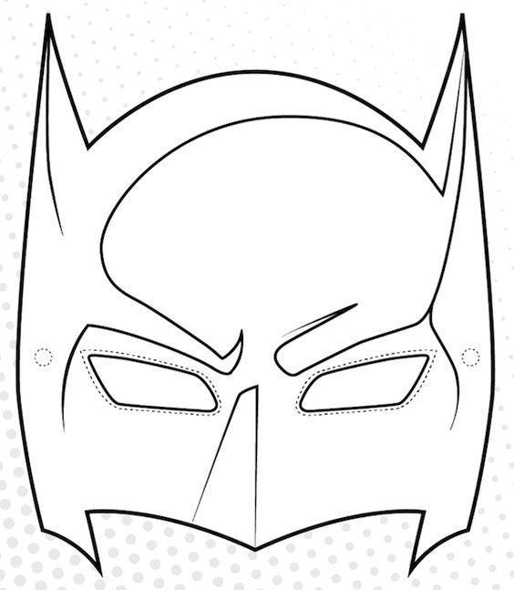 Coloriage Masque Batman Imprimer: