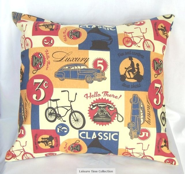 This retro cushions will bring a lovely vintage feel to any home.  £20.00