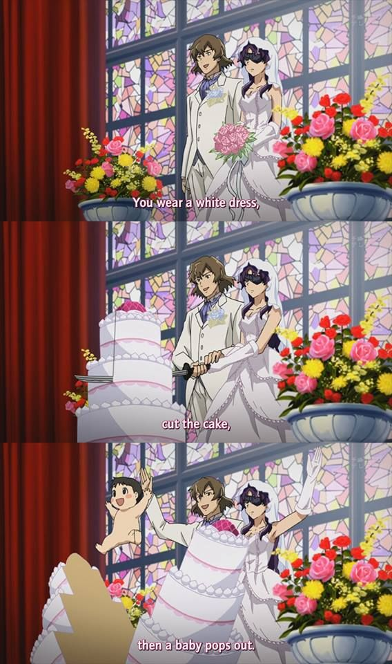 Lol, that's exactly how it's done. xD - Mirai Nikki I died of laughter when that happened