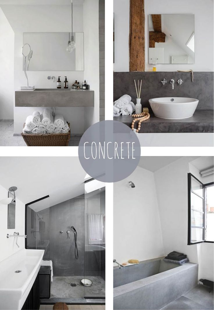 Bathrooms with Concrete