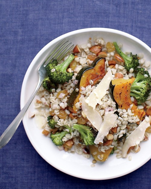 Barley Salad with Acorn Squash And Broccoli recipe