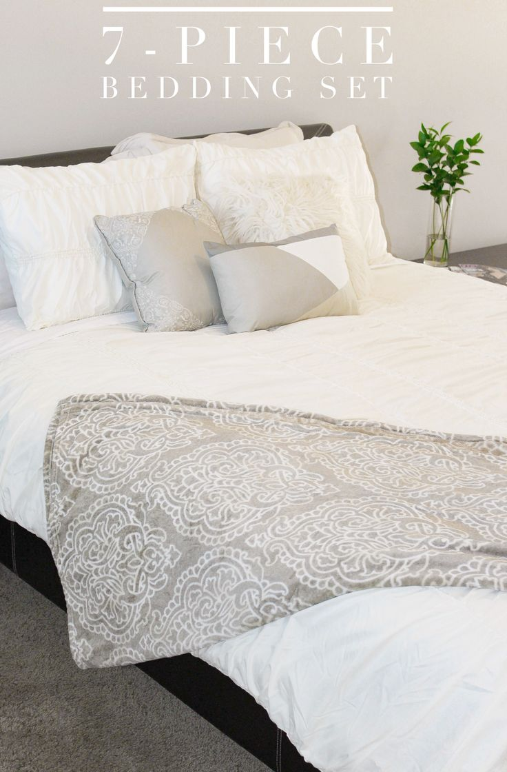 17 best ideas about grey and white bedding on pinterest. Black Bedroom Furniture Sets. Home Design Ideas