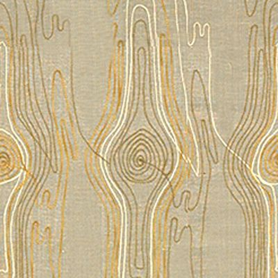 Faux Bois in Ochre/Cream by Kelly Wearstler for Lee Jofa Groundworks (@Kravet) #fabric #neutral #yellow #embroidery #linen #cotton