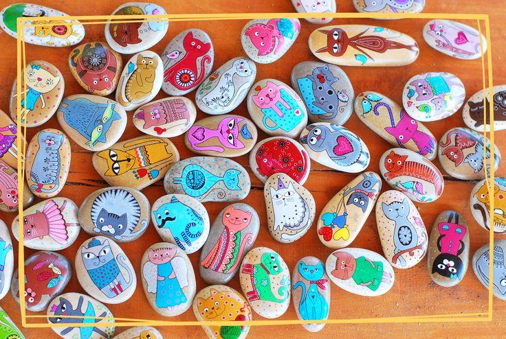 Magnesy od Unicatelli z czerwcowego Kota worku :) #kamienie #kot #koty