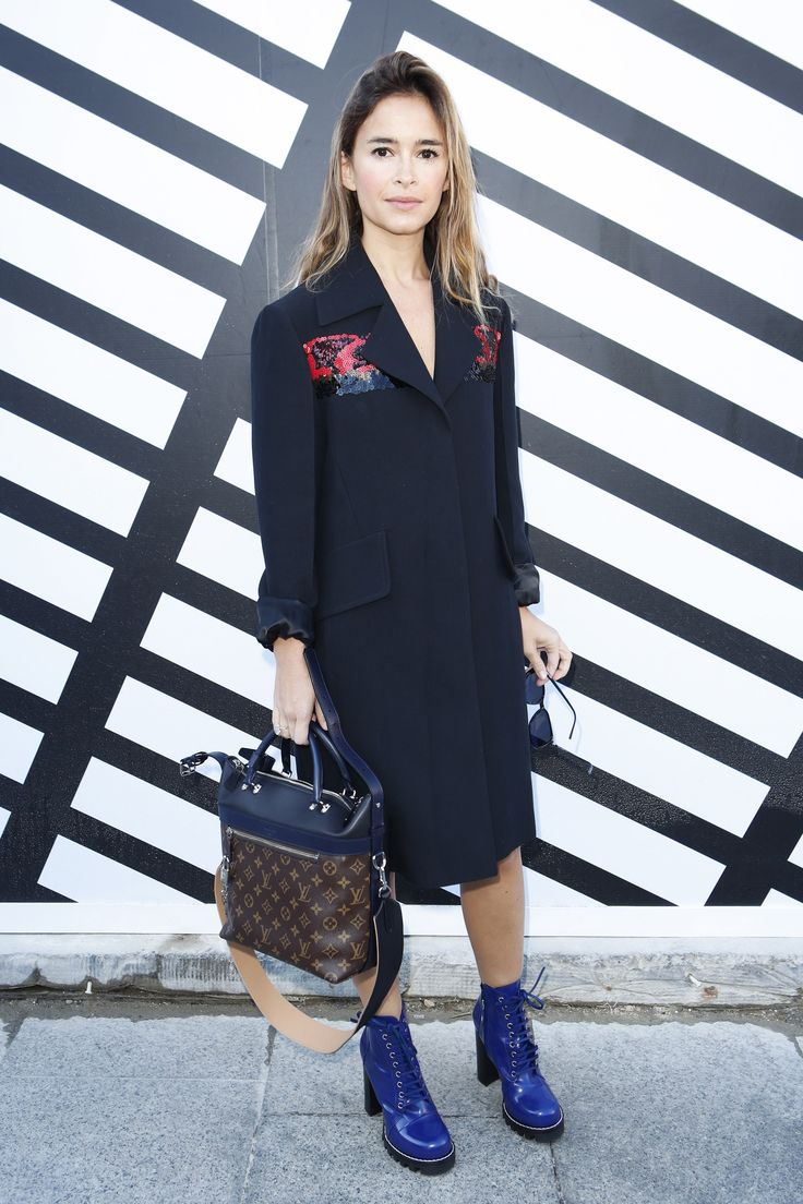 Miroslava Duma at the Louis Vuitton Spring 2017 show