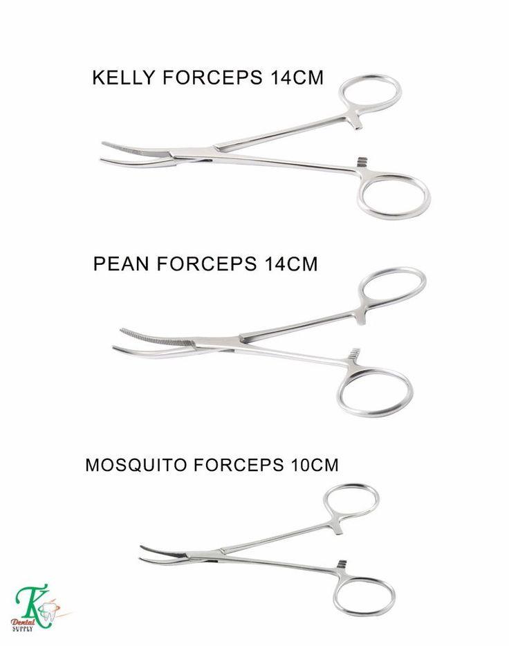 Haemostatic Forceps Kit of 3 Pean,Kelly & Mosquito Curved Locking Pliers Dental #tkplus