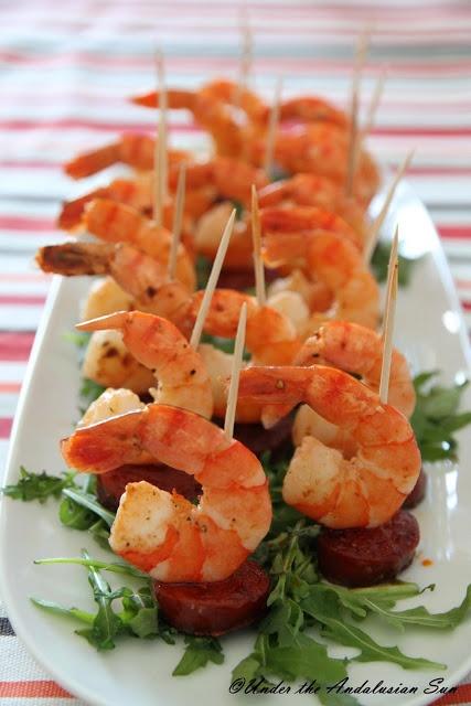 King prawns with chorizo - because chorizo makes everything tastes better...