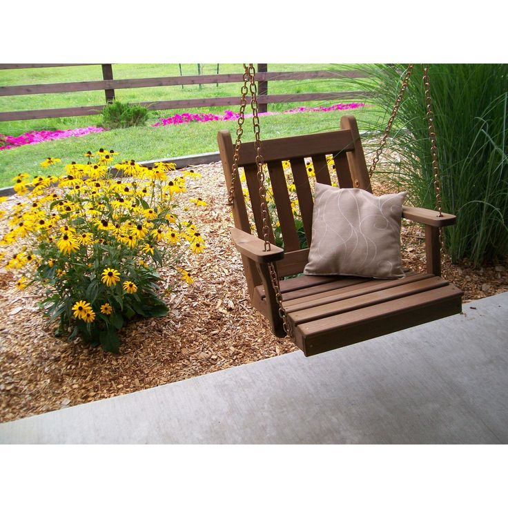 A & L FURNITURE CO. Western Red Cedar 2' Traditional English Chair Swing