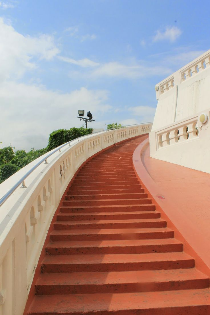 Bangkok, Thailand, Golden Mount, Stairs, Travel