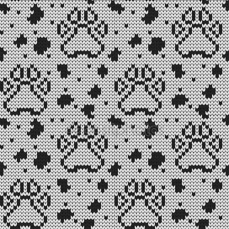 Örme seamless modeli hayvan yastıkları — Stok Vektör © galagalina19.gmail.com #97784660