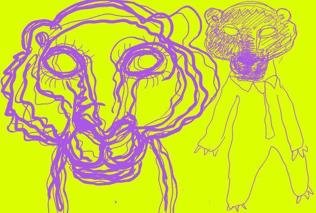Dibujo realizado por ordenador, creado por Bjarne Melgaard
